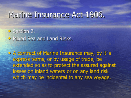Maritime Claims - O`Callaghan Kelly Solicitors