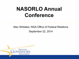 NGA Presentation by Alex Whitaker.