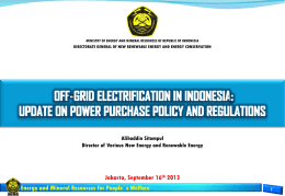 Update on Power Purchase Policy and Regulations