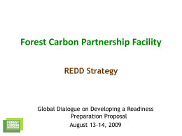 REDD Strategy - The Forest Carbon Partnership Facility