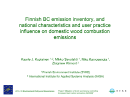 Finnish BC Emissions Inventory & Comparison with Other