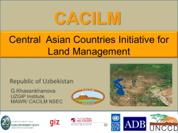 CACILM - Eurasian Center for Food Security (ECFS)