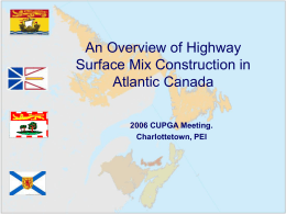 An Overview of Highway Construction in Atlantic Canada