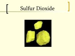 Sulfur dioxide_run