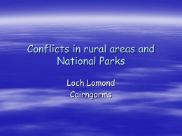 National Parks conflicts