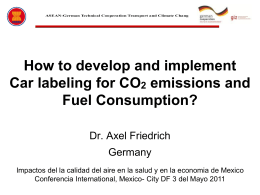 Dr. Axel Friedrich Germany - Transport & Climate Change
