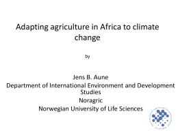 Adapting agriculture in Africa to climate change