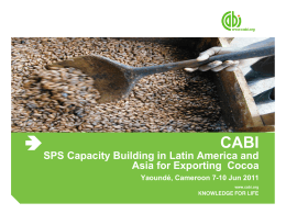 SPS Capacity Building in Latin America and Asia for Exporting Cocoa