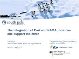 The Integration of PoA and NAMA - CDM