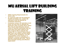 MU Aerial Lift Building Training