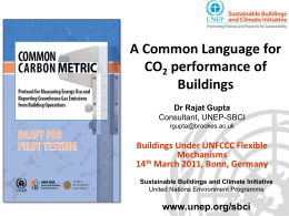 Common Carbon Metric -Rajat Gupta - CDM