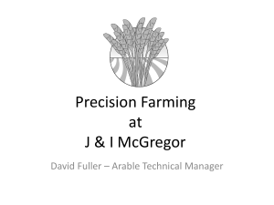 Precision Farming at J & I McGregor