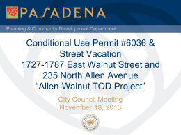 Allen-Walnut TOD Project