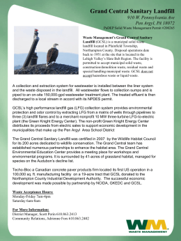 Grand Central Landfill Fact Sheet