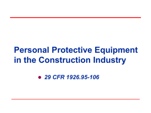 PPE in the Construction Industry