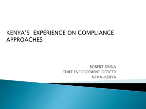 Development in Compliance and Enforcement Management