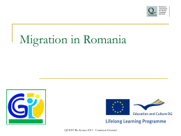 Migration in Romania