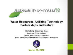 NJ DEP Presentation - sustainabilitysymposium.org