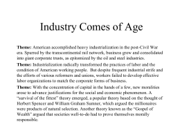 24 Industry Comes of Age