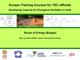Biogas - Sustainable Sanitation and Water Management Toolbox
