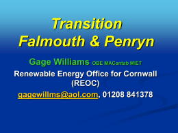 Cornish RE Cluster - Transition Falmouth