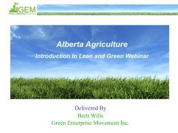 Intro to Lean and Green - Prim Ag