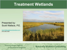 Engineered Wetlands and Applications