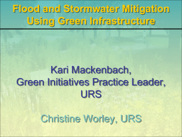 Flood and Stormwater Mitigation Using Green Infrastructure