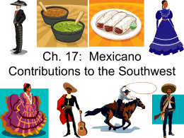 Ch. 17: Mexicano Contributions to the Southwest