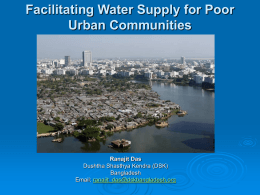 DSK: Facilitating Water Supply for Poor Urban Communities