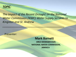 Water Supply Services to Kingston and St. Andrew