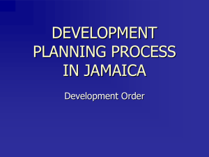 The Development Planning Process in Jamaica