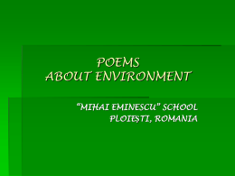poems about environment RO