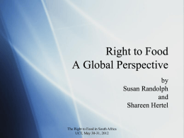 """The Right to Food"""
