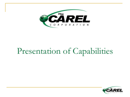 Environmental Reviews - The Carel Corporation