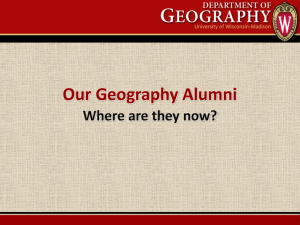 Where Are They Now - Department of Geography