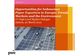 Opportunities for Indonesian Paper Exporters in Europe: Trends