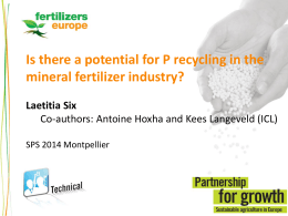 Is there a potential for P recycling in the mineral fertilizer industry?