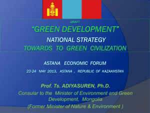 Prof. Ts. ADIYASUREN, Ph.D.-GREEN DEVELOPMENT