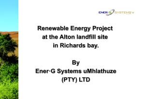 Ener- G Systems aaplication on Renewable energy project