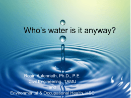 Who`s Water is it Anyway? - Robin Autenrieth