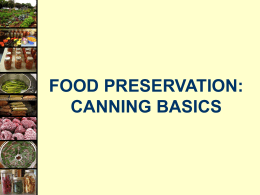 Home Canning Basics - University of Rhode Island