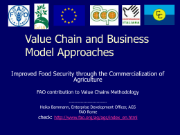 Food Security through the Commercialization of Agriculture
