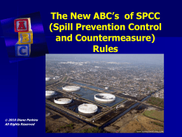 Spill Prevention Control and Countermeasures (SPCC