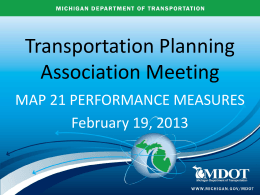 AASHTO Proposal of Performance Measures