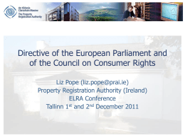 Directive on Consumer Rights
