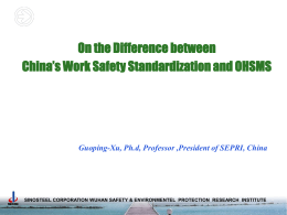 The Comparison Between Safety Standardisation and OSHMS