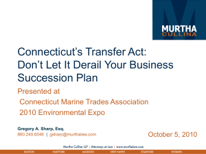Transfer Act for CMTA 10-5-10 - Connecticut Marine Trade Association