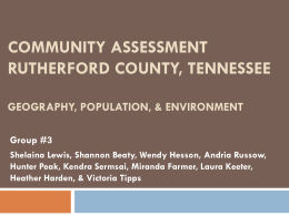 Community Assessment Rutherford County, Tennessee