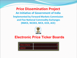 Price Dissemination Project - Presentation (English)